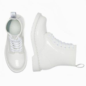 NWT DR. MARTENS WHITE PATENT BOOTS